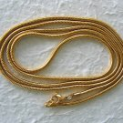 "35.5""-36"" 18k Gold Plated Stainless Steel Snake Chain"