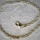 "Italian Made Braided Sterling Silver Ankle Bracelet 10"""