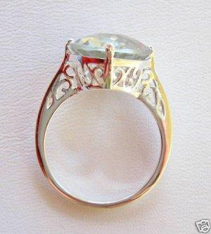 5.2ct Amethyst Prasiolite Sterling Silver .925 Ring