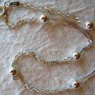 """Italian Diamond Cut Sterling Silver Ankle Bracelet 9"""""""