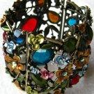 Art Deco Style Stretch Cuff Bracelet Muti-Color
