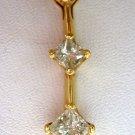 14k Gold 3-Stone Diamond Pendant w/$1050 Appraisal