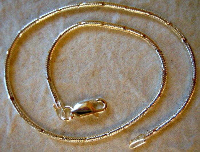 "Italy Sterling Silver Diamond Cut Ankle Bracelet 9"""