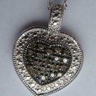 .20 CT Brown Diamond Pendant - Heart Shape Pave Set