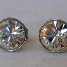 White Swarovski Crystal Stainless Steel Earrings