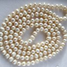 "48"" Cream Color Freshwater Cultured Pearl Necklace"