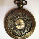 Filigree Copper Plated Pocket Watch with Chain