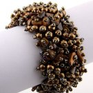 Chocolate Brown Bead & Nugget Stretch Bracelet