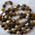 "48"" Designer Chocolate Brown Freshwater Coin Pearl Necklace"