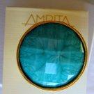 Designer Amrita Singh 18KGP Turquoise 'Jitney' Ring Sz8