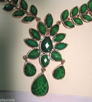 Amrita Singh Faceted Hamptons 'Dune' Necklace in Evergreen