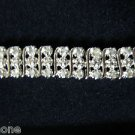 3-Row 1.00 Ct Diamond Tennis Bracelet Sterling Silver .925 S Link Design