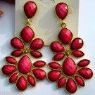 Amrita Singh 18KGP 'Nello' Dangle Earrings Fuchsia Pink Color Hampton Collection