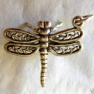 "Sterling Silver 925 Dragonfly Pendant or Charm 3-D .86""x.78"""