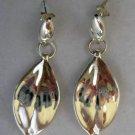 "Nature Inspired Leaf Shape Sterling Silver .925 Dangle Earrings 1.75"" Long"