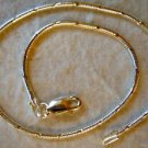 Italian Made Sterling Silver 925 Diamond Cut Snake Chain Wrist Bracelet 7""