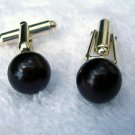 9-9.5mm Black Cultured Pearl Cuff Links Sterling Silver