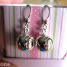 10mm Ball Sterling Silver Dangle Earrings with Sterling Silver French Hook