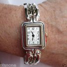 "Women's Filigree Toggle Clasp Bracelet Watch Silvertone or Two-Tone 6.5""-7.5"""