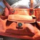 Coach Penelope Coral Leather Carryall Handbag Purse $358 NWT Large Size F19044