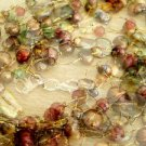 """600 Carat Tiger Eye and Turquoise Howlite Beaded 5-Strand Necklace 22"""" Long"""