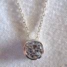 """4.13 Ct Sterling Silver .925 Round White Cubic Zirconia Pendant with 18"""" chain"""