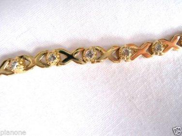 1/2 Ct Diamond Tennis Bracelet 14k Gold over Sterling Silver .925 XOXO Design