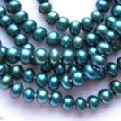 "48"" Blue Green Color Freshwater Cultured Pearl Necklace No Clasp"