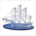 Spun Glass Sailboat on Crystal Seas