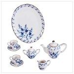 Blue and White Floral Mini Tea Set