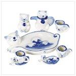 Ceramic Cat Mini Tea Set