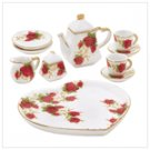 Miniature Rosebud Tea Set