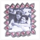 Pewter Pink Hearts Frame
