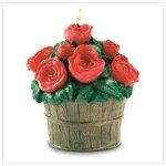 Roses Bucket Candle