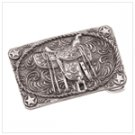Pewter Saddle Belt Buckle