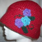 Red Wool Flower Cloche