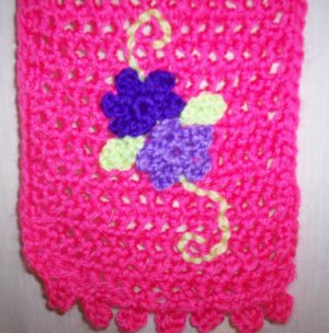 Child's Pink Flower Scarf