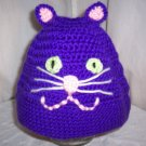 Child's Bright Purple Cat Hat