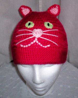 Bright Red Cat Hat