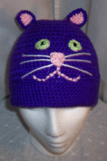 Bright Purple Cat Hat