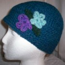 Teal Blue Flower Cloche