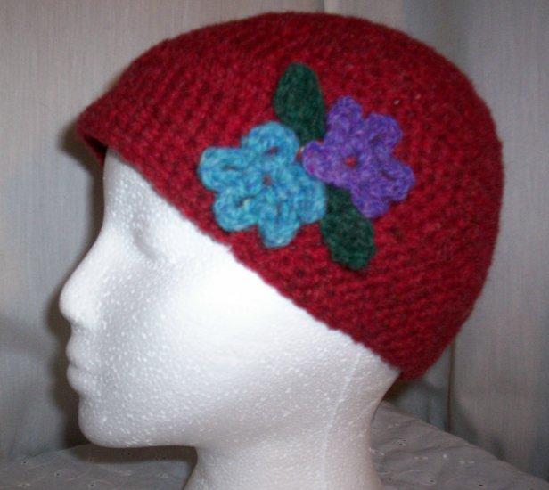 Red Flower Cloche
