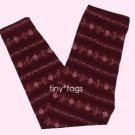 Gymboree Victorian Charm Burgundy Rose Leggings 4 4T