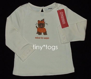 NWT Gymboree Lots of Dots Halloween Puppy Dog Top 3T 3