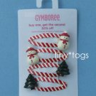NWT Gymboree Winter Snowflake Snowman Tree Hair Clips 6