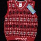 NWT Gymboree Holiday Classics Fair Isle Sweater Vest 2T