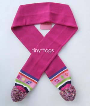 NWT Gymboree Candy Shoppe Pom Pom Scarf 5 6 7 8 New