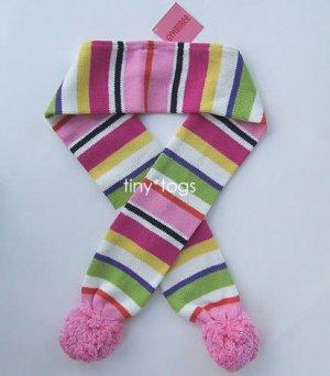 NWT Gymboree Candy Shoppe Striped Scarf Pom Pom 5 6 7 8