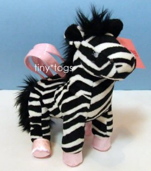 NWT Gymboree Wild One Zebra Plush Purse Bag 3 4 5 6 New