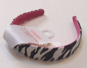 NWT Gymboree Wild One Zebra Print Hair Headband New 5 6